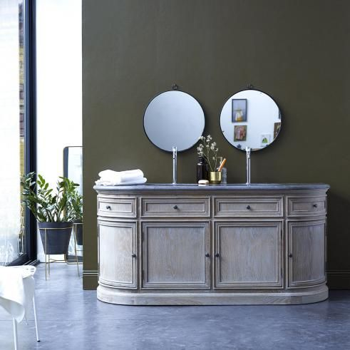 Louise Oak And Stone Vanity Cabinet 180 In 2019 Furniture