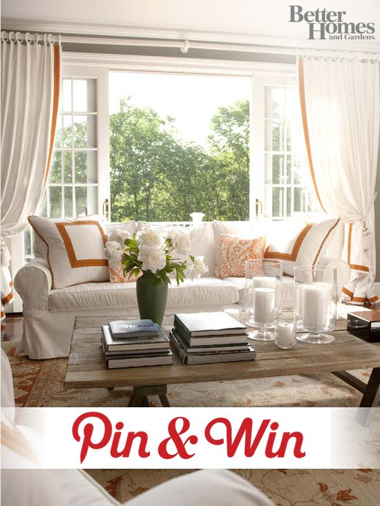 Have you entered our Pin & Win contest, yet? You could win big by creating a 'My Better Homes and Gardens Dream Home' board and pinning at least 10 of your favorite images from BHG.com! Be sure to tell us why you love the spaces in each pin and submit your finished board here: http://on.fb.me/pWXx1W