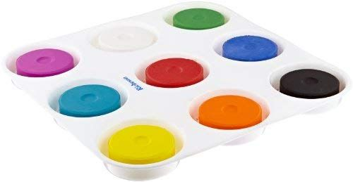 Amazon Com Sax Non Toxic Giant Tempera Paint Cakes With Tray 2