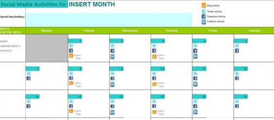social media calendar template Review of Editorial Calendar - social media calendar template
