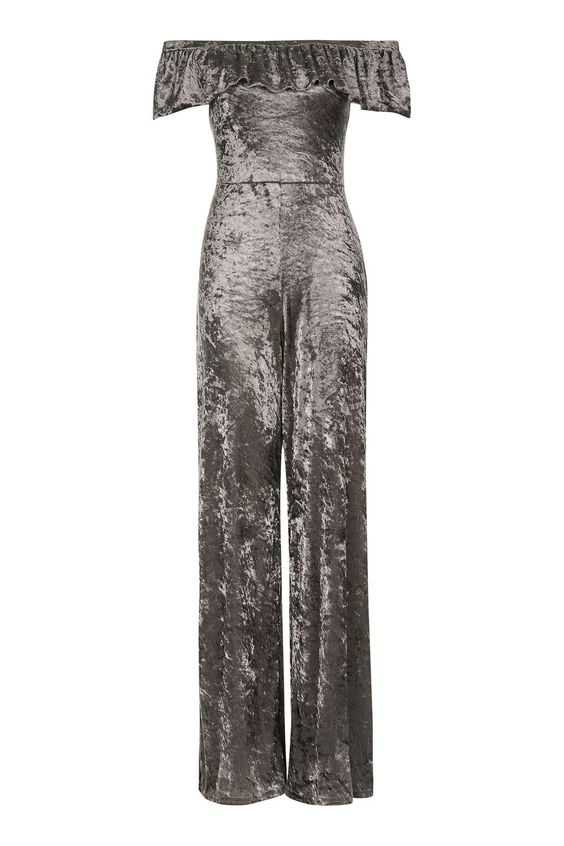 **Velvet Frill Jumpsuit by Love - New In This Week - New In - Topshop Europe