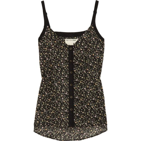 Rag & bone Cale floral-print cotton camisole ($105) ❤ liked on Polyvore