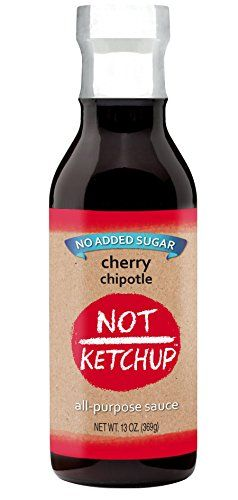 Not Ketchup, No Sugar Added, Paleo BBQ Sauce, Cherry Chipotle, Gluten Free, All Natural, Dipping, Grilling and Marinating Sauce, 13 oz Bottle *** Review more details, click the image  at this Dinner Ingredients board