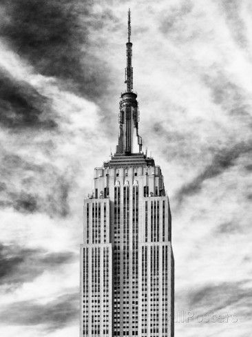 Top of Empire State Building, Black and White Photography, Manhattan, New York -