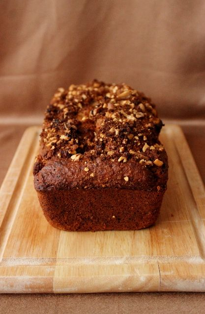 An easy gluten free recipe for Peanut Butter Banana Bread // A Recipe For Gluttony Blog