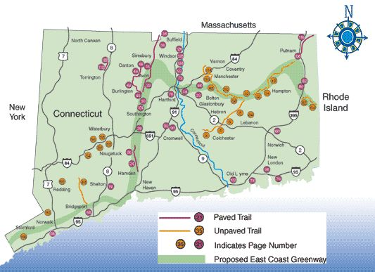 Connecticut Trails Map Use This Link Httpwwwctgovdotcwp - Ct state map
