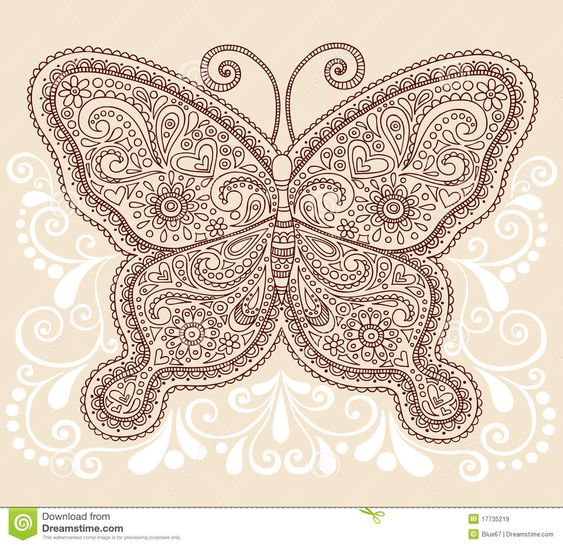 Henna Mehndi Vector Free Download : Henna mehndi paisley butterfly doodle design download from over million high quality stock