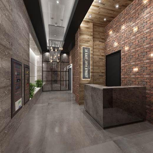 Modern Brick Elevator Lobby Google Search Apartment Building