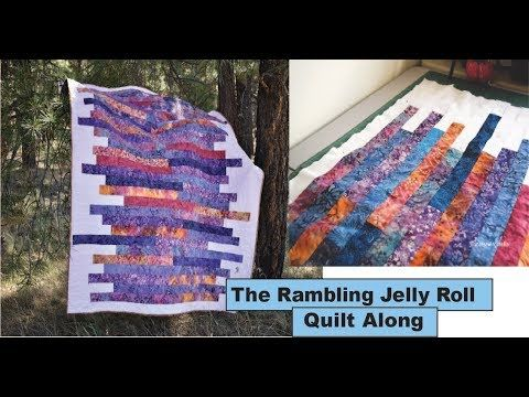 Scrappy Jelly Roll Quilt The Rambling Jelly Roll Quilt Along Youtube Jellyroll Quilts Jelly Roll Patterns Quilt Blocks Easy