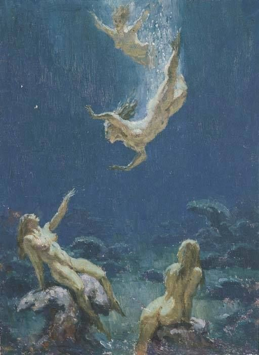 Sea Nymphs by Norman Lindsay (1879 – 1969)