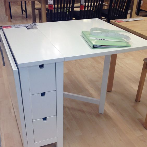 Pinterest the world s catalog of ideas - Gateleg table with drawers ...
