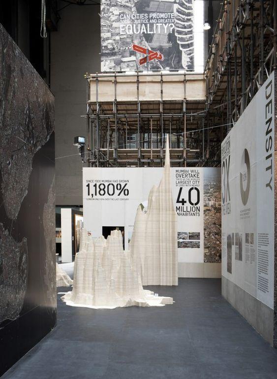 London population through wodden population density exhibition