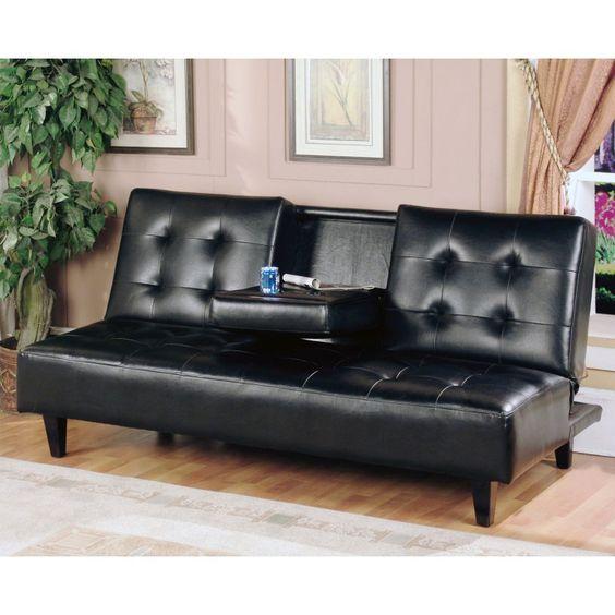 Milton Green Verano Convertible Sofa - Black - 7502-BLK