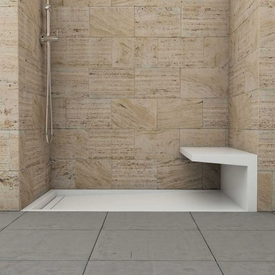 Ebenerdige Dusche Mit Sitzbank : dusche mit kalkstein und sitzbank mehr sitzbank bad sitzbank dusche