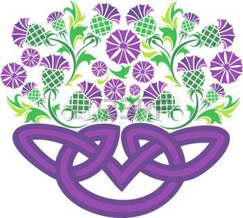 celtique: image vectorielle noeud celtique sous la forme d'un panier de fleurs des champs Illustration