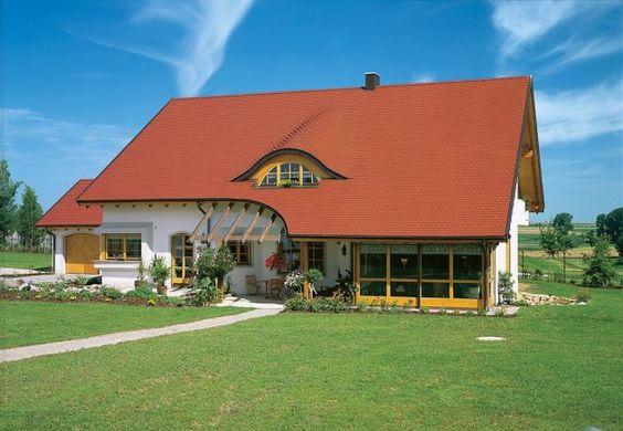 ausgefallene Dachgestaltung * verwinkeltes Dach * Ideen zum Dachbau * langes Dach * rote Dachziegel oder Dachpfannen * Braas