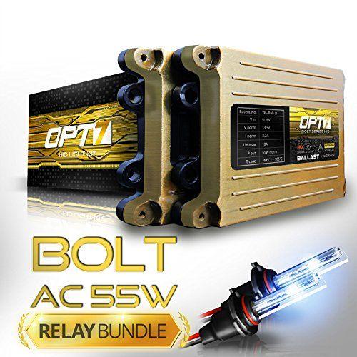 Opt7 Bolt Ac 55w Hi Power 9006 Hid Kit Relay Bundle All Bulb Sizes And Colors 2 Yr Warranty 6000k Lightning Blu Blue Headlights Nissan Maxima Light Beam