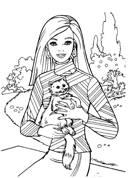 Pin By Tsvetelina On Barbie Coloring Barbie Coloring Pages Cat Coloring Page Cat Coloring Book