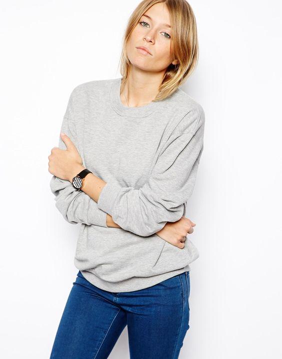 Bild 1 von ASOS – Sweatshirt im Boyfriend-Stil