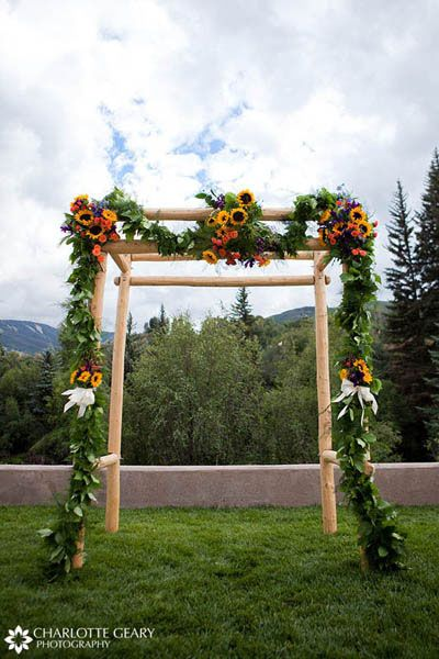 floral arrangements for weddings orange sunflowers | Re-Blog: Ideas for Ceremony Decorations | Just in Time Event ...