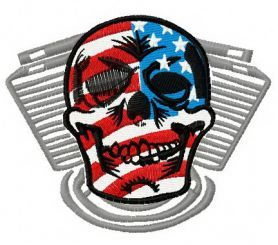 Live free or die 2 machine embroidery design. Machine embroidery design. www.embroideres.com