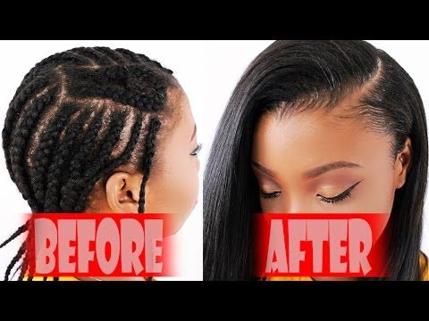 Braid Pattern For Sew In Weave Diy Youtube Sew In Braids Sew In Braid Pattern Braids With Weave