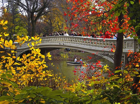 Central Park. New York City. Designed by Frederick Law Olmsted. Began construction in 1860. Completed in 1873.
