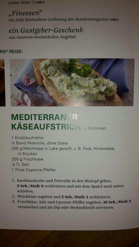 Mediterraner Käseaufstrich