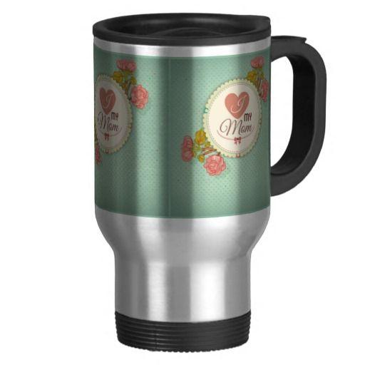 Retro mother's day flower pattern coffee mug