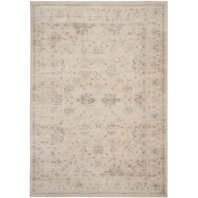 Found it at Wayfair - Malakoff Creme Area Rug