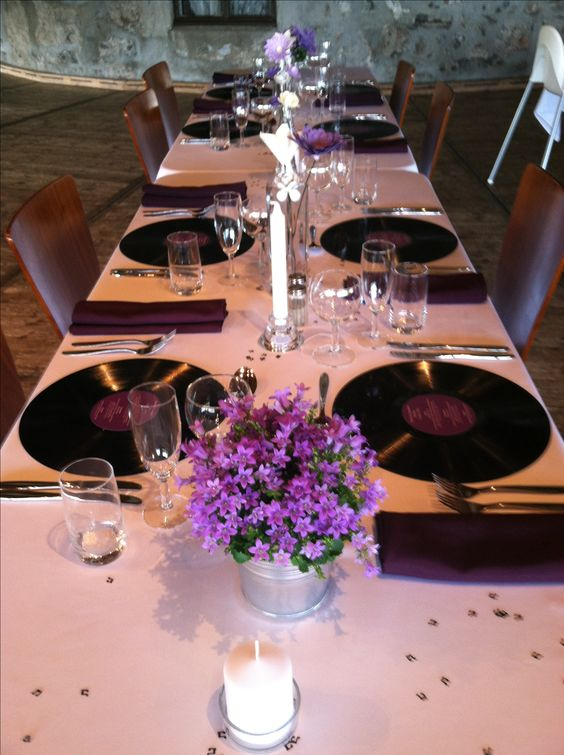 Music Themed Wedding Table Decor In Norway Entertaining