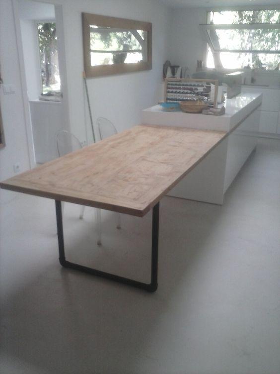 Mesa auxiliar para cocina. Kitchen table. #table #kitchen #wood ...