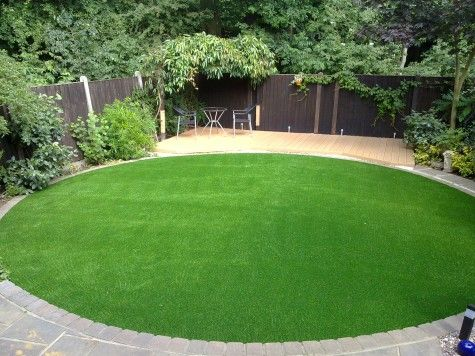 Get effortless lush neatly cropped grass all year round for Small round garden design