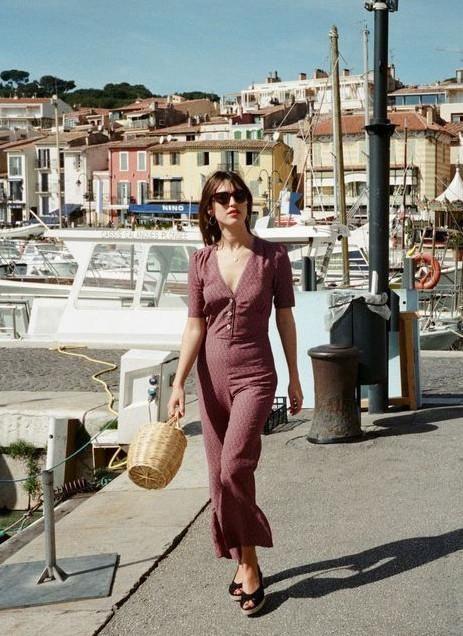 Borse di paglia - Jane Birkin con borsa secchiello in paglia