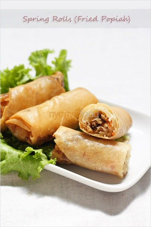 Spring Rolls Recipe Fried Popiah Recipe Easy Delicious Recipes Rasa Malaysia Rasamalaysia Com Crispy Recipes Fried Spring Rolls Spring Rolls