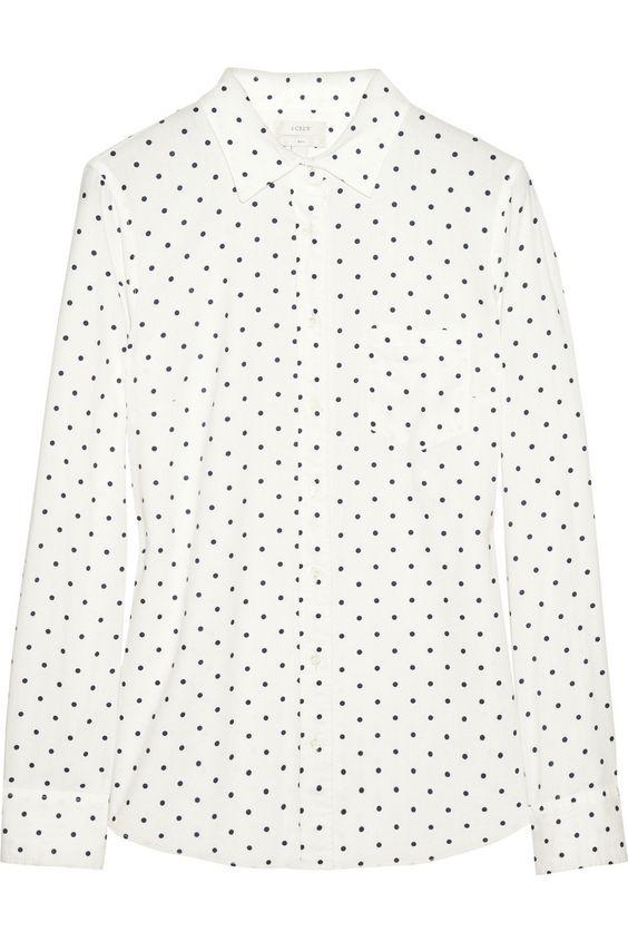 J.Crew|New Boy polka-dot cotton shirt|NET-A-PORTER.COM: Artshirt Shirt, Polka Dots, Cotton Shirts, Boy Polka