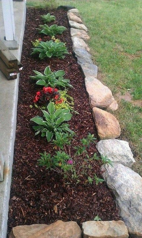 78 Tremendous Front Yard Rock Garden Landscaping Ideas With