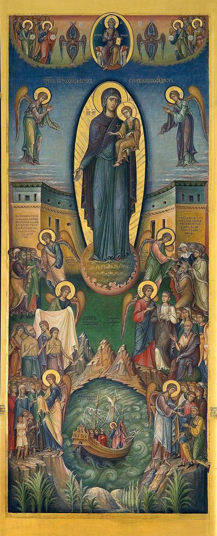 ΜΡ.ΘΥ__Παναγία     Εικόνα της Παναγίας «Πάντων θλιβομένων» λειτουργεί από τον Αλέξανδρο Lavdanskogo ( Журнал некорректного изографа (фарисея и сноба по совместительству):