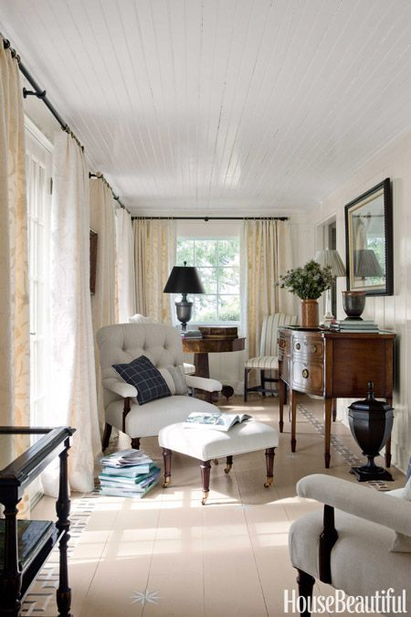 Cape Cod Style House - Neutral Decorating Ideas - House Beautiful #Interior #Design