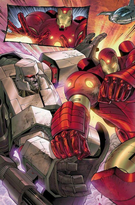 Iron Man vs Megatron - Tyler Kirkham