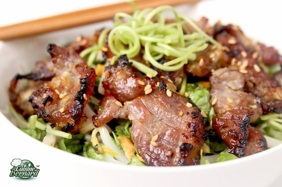 La cuisine de bernard salade vietnamienne au porc - Zen la cuisine vietnamienne ...