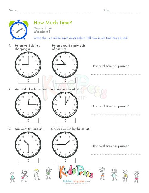 Printable Clock Worksheets To The Hour - The Hour Worksheet ...