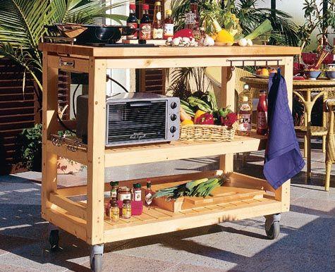 diy - upcycling outdoor Küche aus einer Werkbank - outdoor küche selber bauen