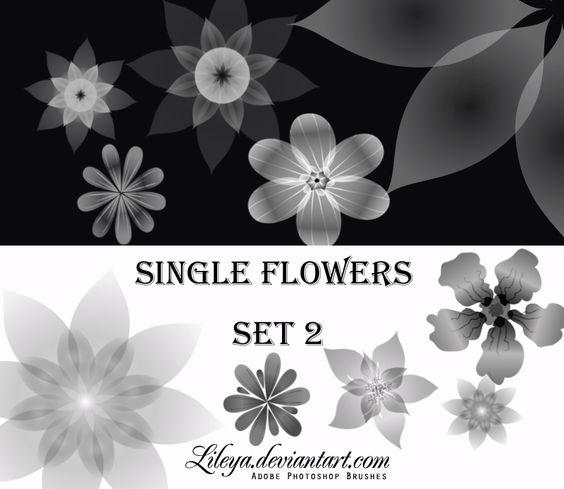 Single Flowers -set 2- by Lileya.deviantart.com