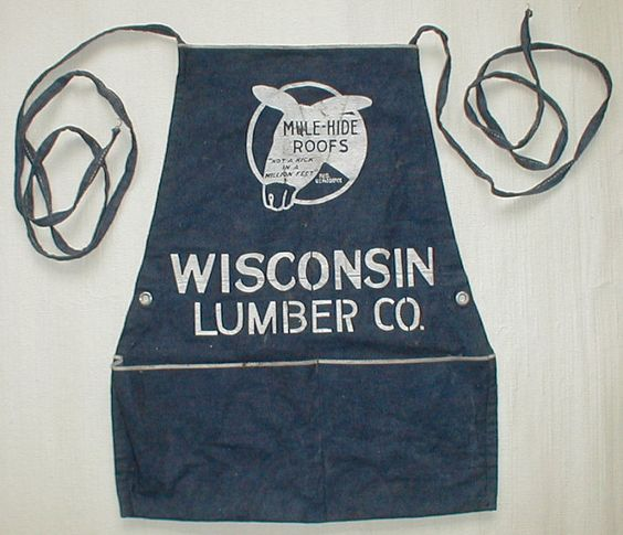 Vintage denim apron.  Super cool.