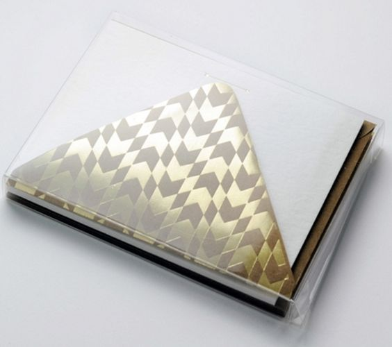 Gold Arrow Boxed Stationary Set