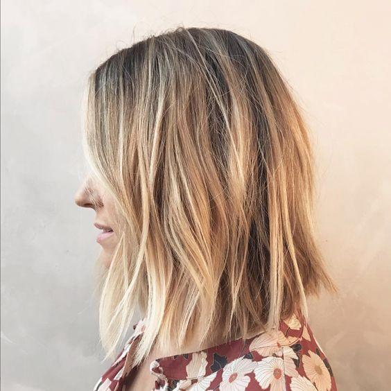 Fun And Flattering Medium Hairstyles For Thick Hair Women Shoulder Length Haircut Thick Hair Styles Hair Styles Lauren Conrad Hair