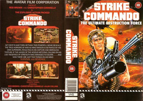 Strike Commando (1987) VHS