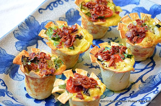 Popover Cheesy Avocado Frittatas