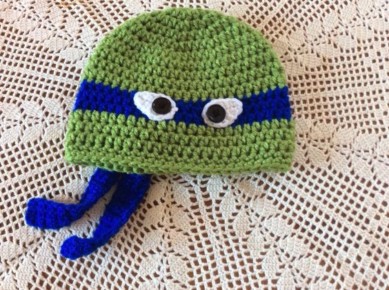 Ninja Turtles Beanie Hat for kids by MamaYayaCreations on Etsy https://www.etsy.com/listing/213473269/ninja-turtles-beanie-hat-for-kids